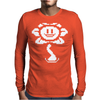 Flowey pixel Mens Long Sleeve T-Shirt