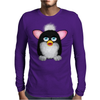 Fluffy Furbie Black/White Mens Long Sleeve T-Shirt