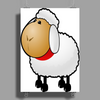 Fluffy Sheep Poster Print (Portrait)