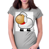 Fluffy Sheep Womens Fitted T-Shirt