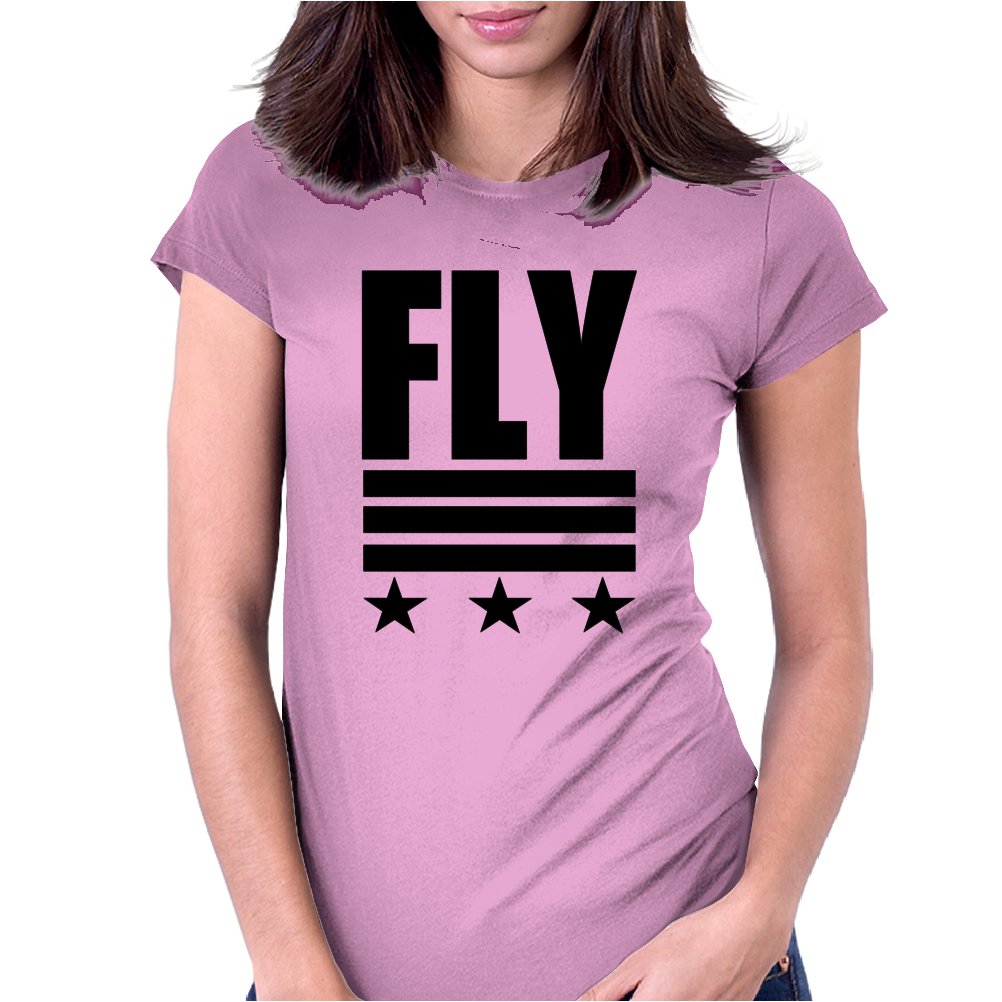Fly Stars, Womens Fitted T-Shirt