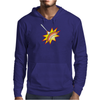 Flying sausage on a fork Mens Hoodie