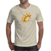 Flying sausage on a fork Mens T-Shirt
