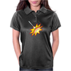 Flying sausage on a fork Womens Polo