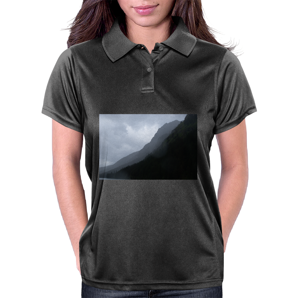 foggy mountains Womens Polo