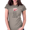 Fool me once shame on you fool me twice you have boobs It's really that simple !  Womens Fitted T-Shirt