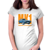 Ford Capri MK1 Classic Car Orange/Blue Womens Fitted T-Shirt