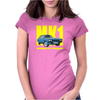 Ford Capri MK1 Classic Car Yellow/Blue Womens Fitted T-Shirt