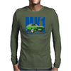 Ford Capri Retro Classic Car Blue/Green Mens Long Sleeve T-Shirt