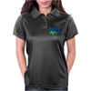 Ford Capri Retro Classic Car Blue/Green Womens Polo