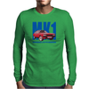 Ford Capri Retro Classic Car Blue/Red Mens Long Sleeve T-Shirt