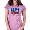 Ford Capri Retro Classic Car Blue/Red Womens Fitted T-Shirt