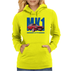 Ford Capri Retro Classic Car Blue/Red Womens Hoodie