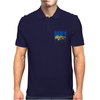 Ford Capri Retro Classic Car Blue/Yellow Mens Polo
