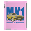 Ford Capri Retro Classic Car Blue/Yellow Tablet