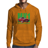 Ford Capri Retro Classic Car Green/Red Mens Hoodie