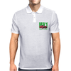 Ford Capri Retro Classic Car Green/Red Mens Polo