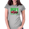 Ford Capri Retro Classic Car Green/Red Womens Fitted T-Shirt