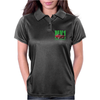 Ford Capri Retro Classic Car Green/Red Womens Polo