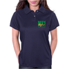 Ford Capri Retro Classic Car Green/Yellow Womens Polo