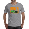 Ford Capri Retro Classic Car Orange/Green Mens T-Shirt