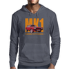 Ford Capri Retro Classic Car Orange/Red Mens Hoodie