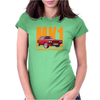 Ford Capri Retro Classic Car Orange/Red Womens Fitted T-Shirt