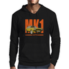 Ford Capri Retro Classic Car Orange/Yellow Mens Hoodie