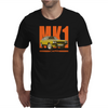 Ford Capri Retro Classic Car Orange/Yellow Mens T-Shirt
