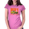 Ford Capri Retro Classic Car Orange/Yellow Womens Fitted T-Shirt