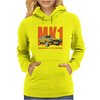 Ford Capri Retro Classic Car Orange/Yellow Womens Hoodie