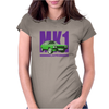 Ford Capri Retro Classic Car Purple/Green Womens Fitted T-Shirt
