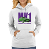 Ford Capri Retro Classic Car Purple/Green Womens Hoodie