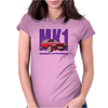 Ford Capri Retro Classic Car Purple/Red Womens Fitted T-Shirt
