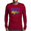 Ford Capri Retro Classic Car Purple/Yellow Mens Long Sleeve T-Shirt