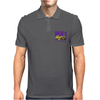 Ford Capri Retro Classic Car Purple/Yellow Mens Polo