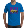 Ford Capri Retro Classic Car Purple/Yellow Mens T-Shirt