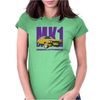 Ford Capri Retro Classic Car Purple/Yellow Womens Fitted T-Shirt