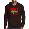 Ford Capri Retro Classic Car Red/Green Mens Hoodie