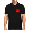 Ford Capri Retro Classic Car Red/Green Mens Polo