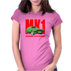 Ford Capri Retro Classic Car Red/Green Womens Fitted T-Shirt