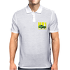 Ford Capri Retro Classic Car Yellow/Green Mens Polo