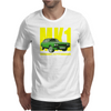Ford Capri Retro Classic Car Yellow/Green Mens T-Shirt