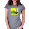 Ford Capri Retro Classic Car Yellow/Green Womens Fitted T-Shirt