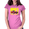 Ford Capri Retro Classic Car Yellow/Red Womens Fitted T-Shirt