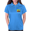 Ford Capri Retro Classic Car Yellow/Red Womens Polo