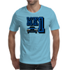 Ford Fiesta MK1 Classic Car Blue Mens T-Shirt