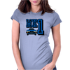 Ford Fiesta MK1 Classic Car Blue Womens Fitted T-Shirt