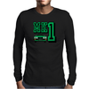 Ford Fiesta MK1 Classic Car Green Mens Long Sleeve T-Shirt