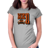 Ford Fiesta MK1 Classic Car Orange Womens Fitted T-Shirt